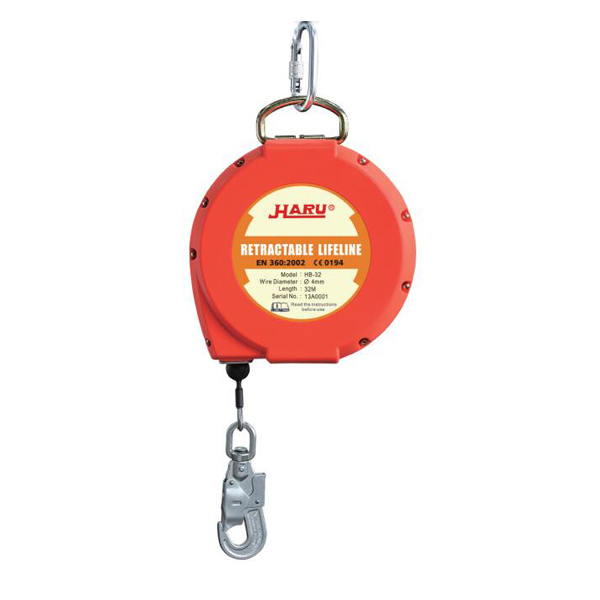 10-20M Fall Arrest ลวด Retractable Safety Lifeline EN 360 มาตรฐาน
