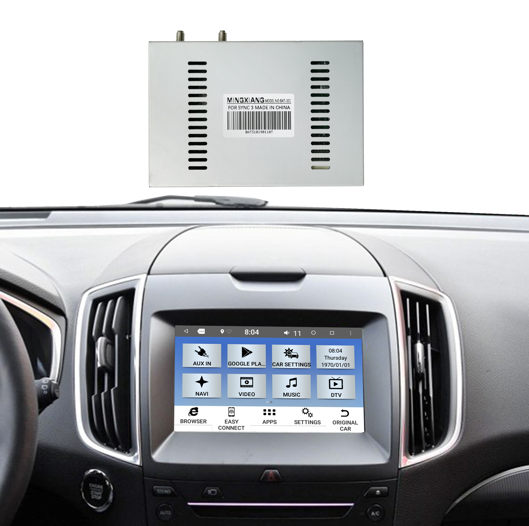 MINGXIANG auto multimedia Video interface auto audio systeem voor ford sync 3 android Interface navigatie 7.1