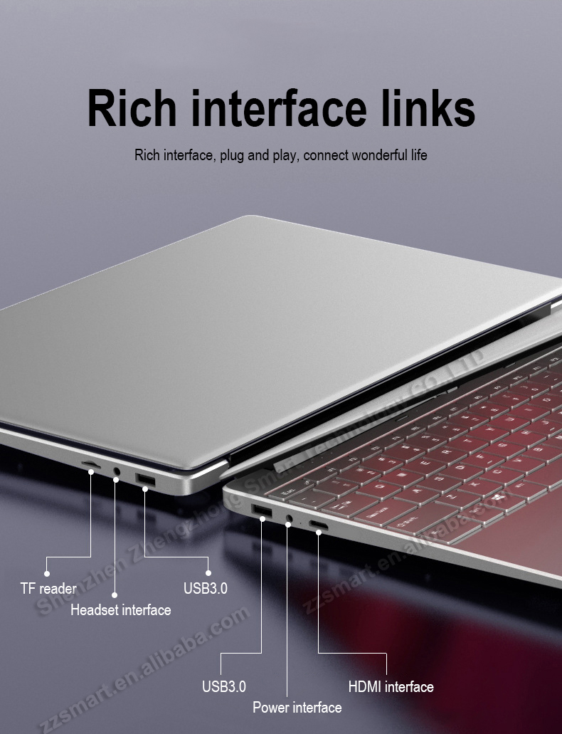 15.6 inch laptop intel core i5 CPU  8GB RAM laptop with bluetooth and fingerprint recognition