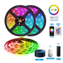 Amazon Alexa Google Casa Tuya Wifi IP65 Flessibile Impermeabile Luce di <span class=keywords><strong>Striscia</strong></span> del LED Bluetooth Luce di <span class=keywords><strong>Striscia</strong></span> del LED RGB