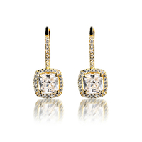 Gold Platedjewelry 925 Sterling Silver Jewelry Cubic Zircon Earrings For Women