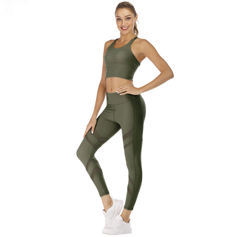 Colorful Sexy Girl Yoga Fitness Wear Sports Bra And Leggings 15
