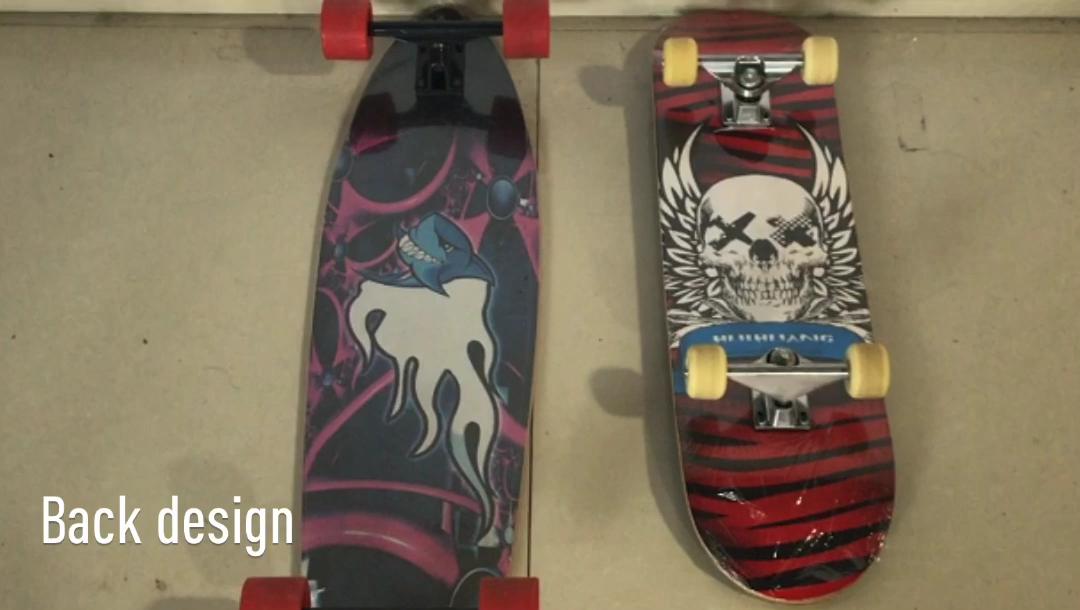4 rodas de skate longboard completo skate deck de madeira rolamento 60 kg