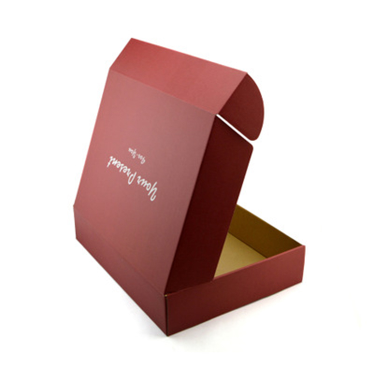 red box clothing packaging boxes custom logo corrugated mailing boxes
