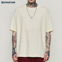 OEM/ODM custom your logo oversized plain t shirt short sleeve eco friendly cut and sew tee shirt