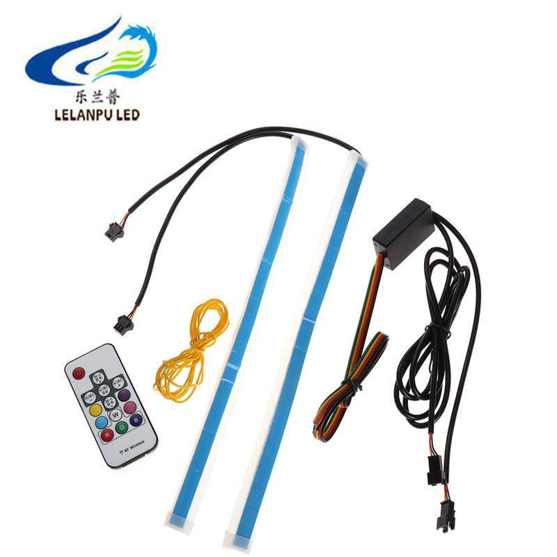 Waterproof Led Strip Flexible Daytime Running Light 12V 30CM 45CM 60CM RGB With Remote Control DRL Strip