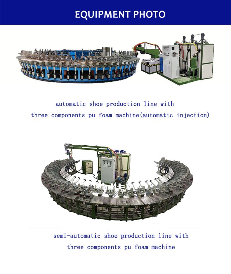 Suela de Pu de la línea de producción de desma tipo zapato máquina de inyección