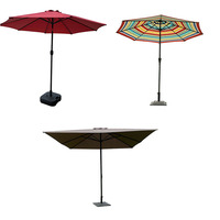 Customized Outdoor Advertising Garden Folding Sun Umbrella 8 Feet Single Pulley System Patio Garden Umbrella