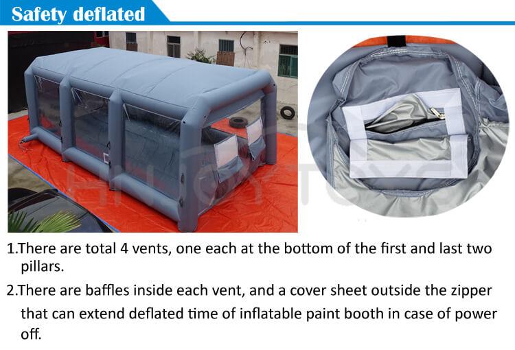 مخصص 210D أكسفورد القماش الطلاء كشك مع بأسعار معقولة دائم نفخ رذاذ الطلاء خيمة للسيارة