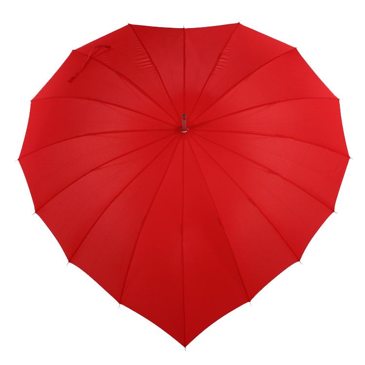 רומנטי מטריית קידום מכירות סיטונאי זול לב צורת חתונה מטרייה
