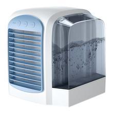 Мини портативный кондиционер вентилятор с водяным охлаждением Usb офисный Настольный ручной вентилятор для воды портативный вентилятор для...(Китай)