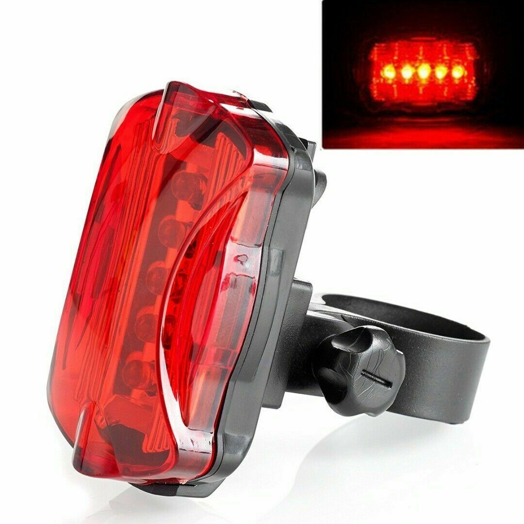 5 Led Bicycle Front Head Light+Tail Light Set Waterproof Road MTB Mountain Bike Rear Light Cycling Lamp Flashlight