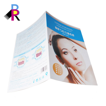 New Design Cheap Advertising Product Illustration Folded Make Up Leaflet