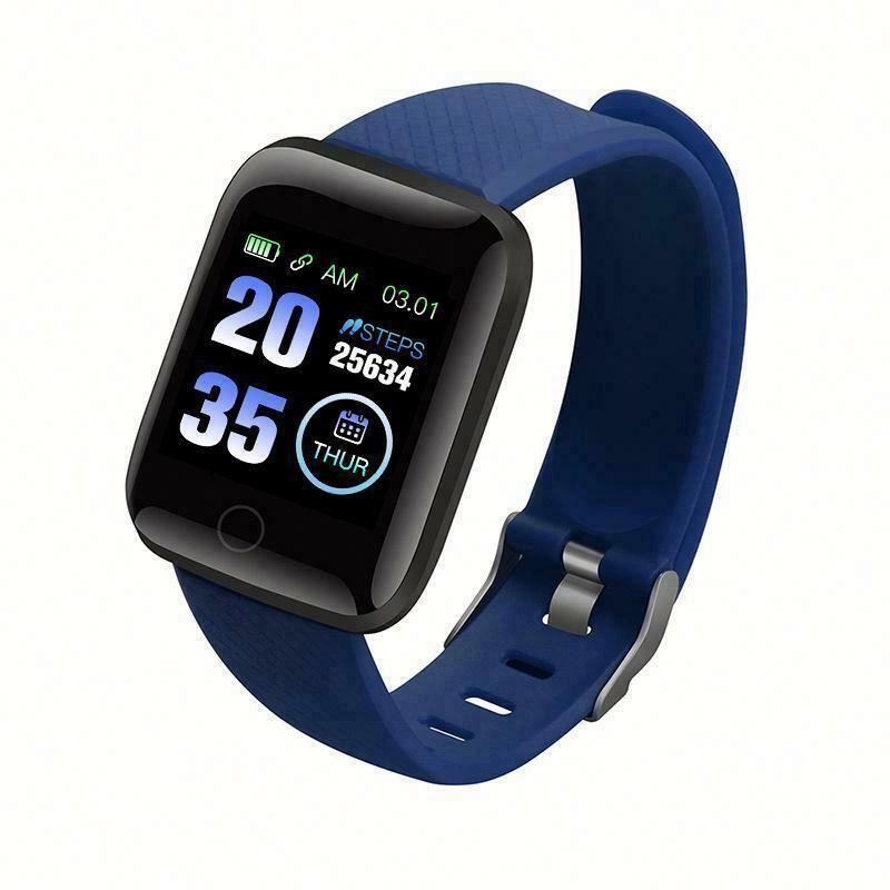 1,3 дюймовый цветной экран водонепроницаемый смарт-часы 116 плюс спортивный смарт-Браслет фитнес-трекер Смарт-браслет с функциями измерения пульса и артериального давления