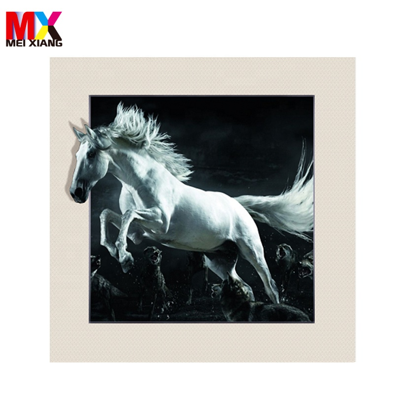 Super quality lenticular printing 5D <strong>picture</strong> with animal <strong>picture</strong> for size 40*40cm
