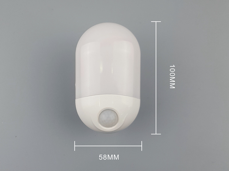 OEM HWX-02 Intelligent light control human body infrared sensor LED night light plug in wall lamp
