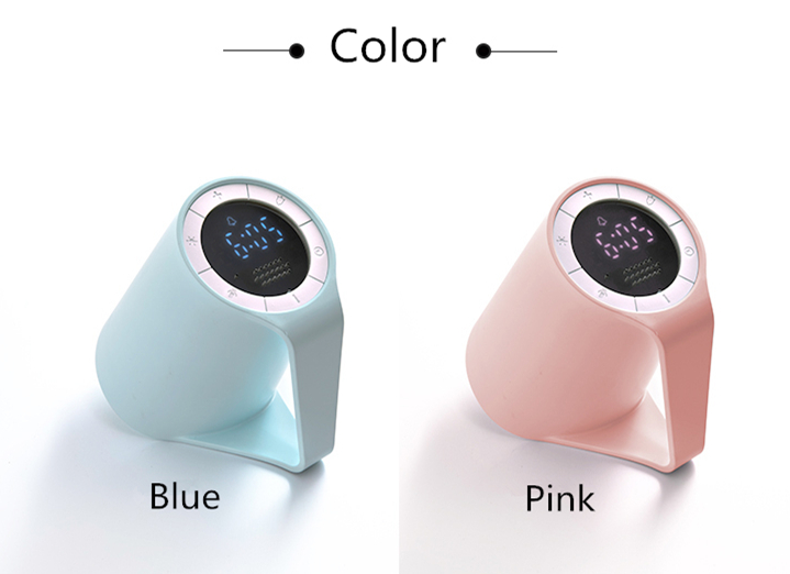 Cup shape Multifunction digital voice recordable alarm clock night light