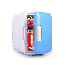 Холодильник двойного назначения с охлаждением и нагревом объемом 4 л, мини-холодильники для автомобилей, хранение и организация холодных на...(Китай)