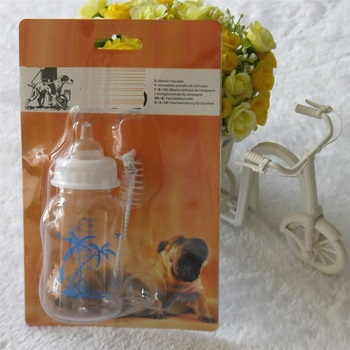Big size Plastic Baby Dog Cat Animal Puppy Pet Nursing Feeder Bottle Kit In Blister Card