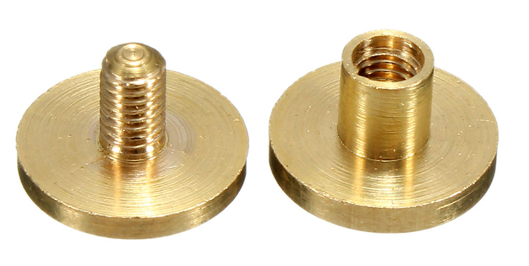 1/4'' 3/8'' 3/16'' phillips slotted leather belt brass copper rivet