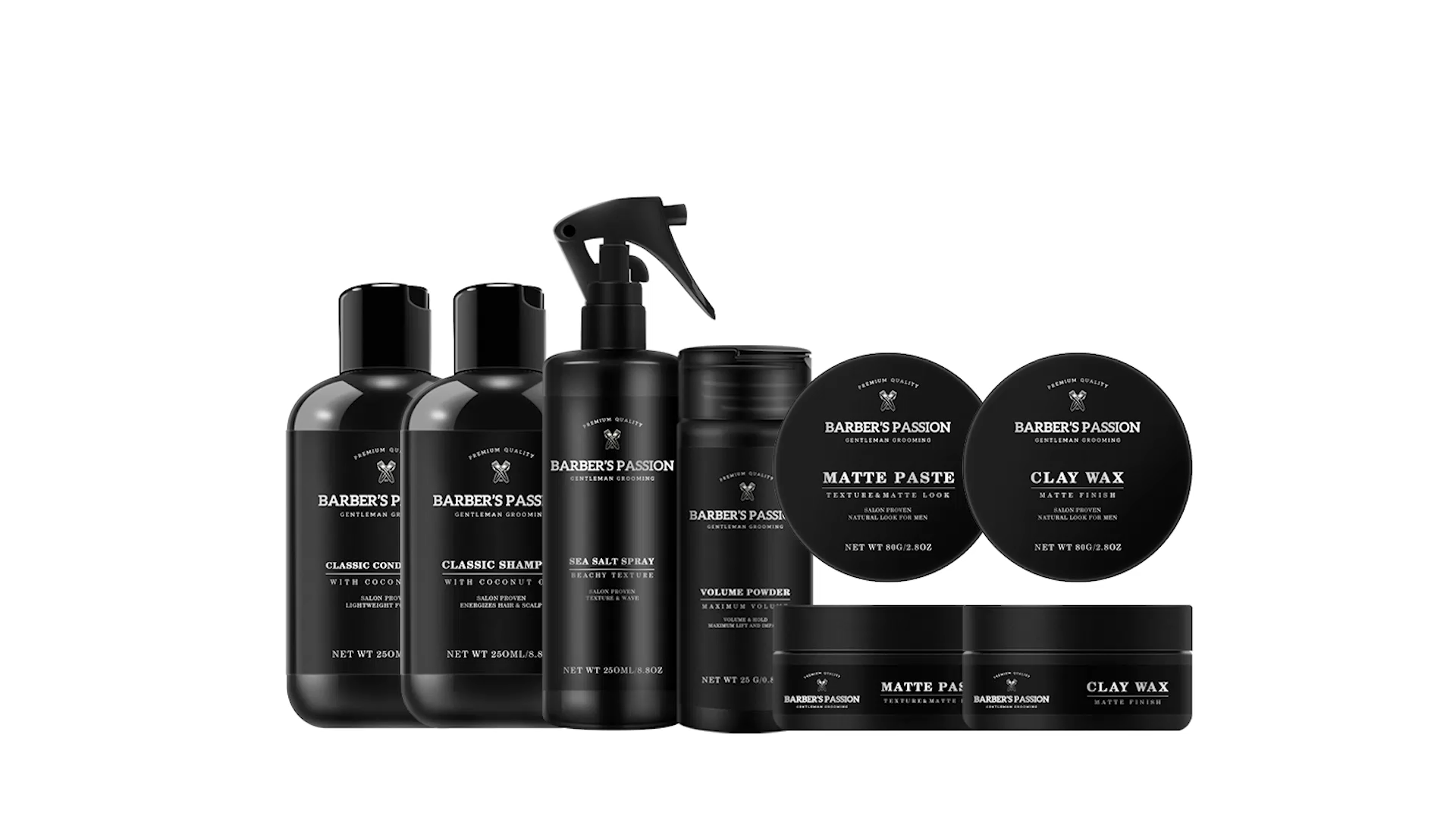 17 year experience manufacturer barber styling products hair care products set for man
