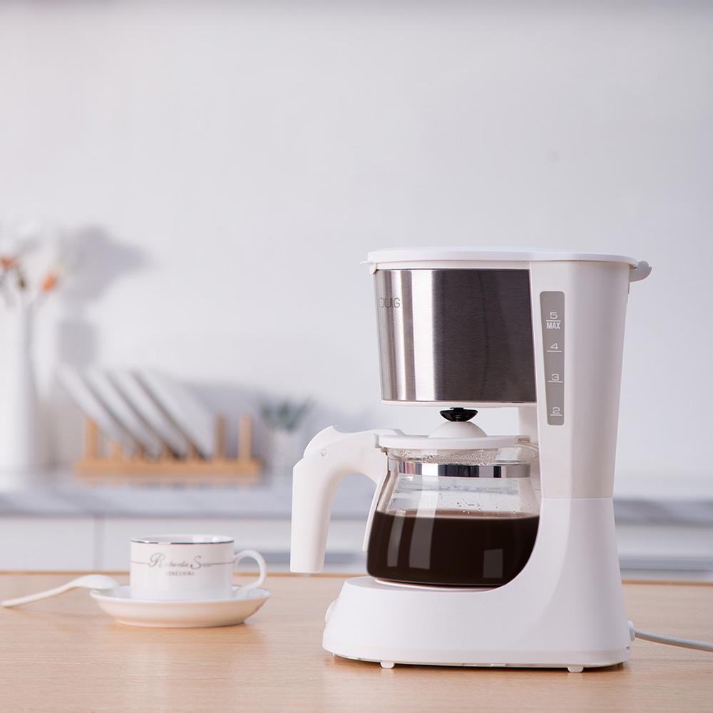 01 кофемашина, 220 В, Бытовая кофеварка эспрессо с 652 мл, стеклянный чайник, фильтр для порошка, противокапельный изоляционный чайник(Китай)