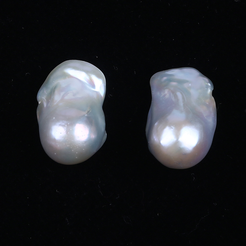 High quality 16-18mm loose white baroque keshi pearls
