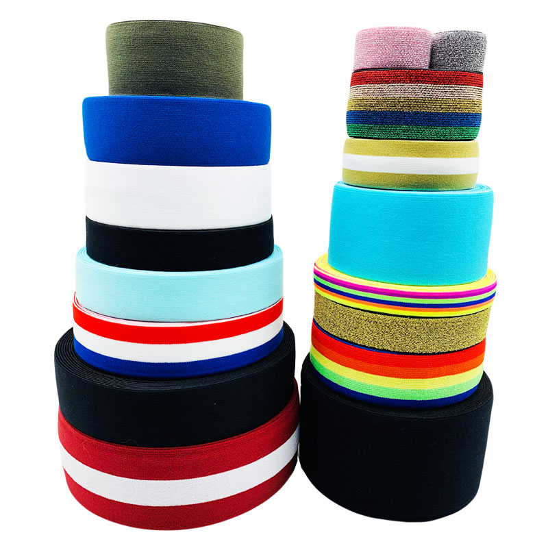 Wholesale Eco-Friendly Custom Jacquard Soft Nylon Solid Color Woven Elastic Webbing Band For Clothes Underwear