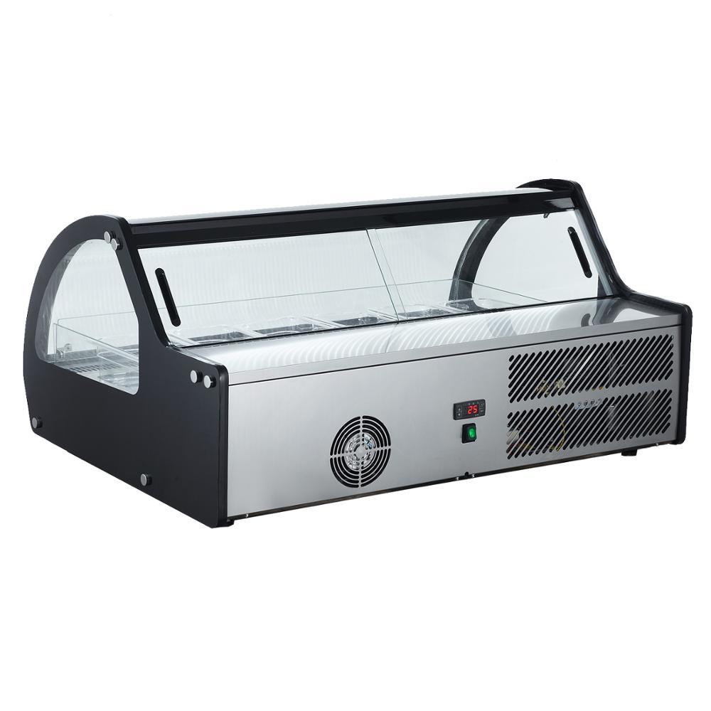 Smad Refrigerazione Commerciale Attrezzature Mini Ice Cream Display Vetrina