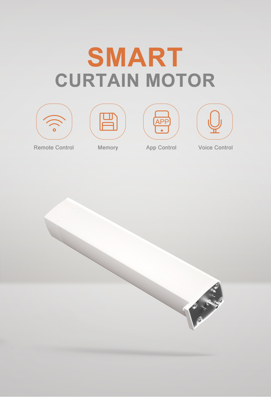 Smart home automation curtain wifi electric curtain motor with curtain rail