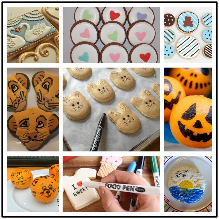 Şeker kek dekorasyon yazma kalem-yenilebilir mürekkep İşaretleyicileri