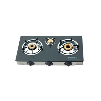 China cheap home appliance 3 rings table top glass gas burner cooktop