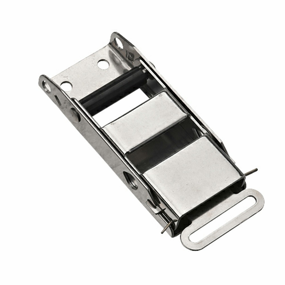 Hot sale curtain side van truck stainless steel cam buckle over center strap buckle