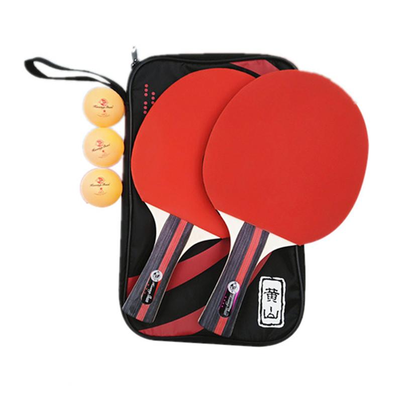 Raquette de ping-pong sertie de sac personnalisé 2 raquette 3 ABS boules de bois Pure pagaie de ping-pong ping-pong jeu de lames