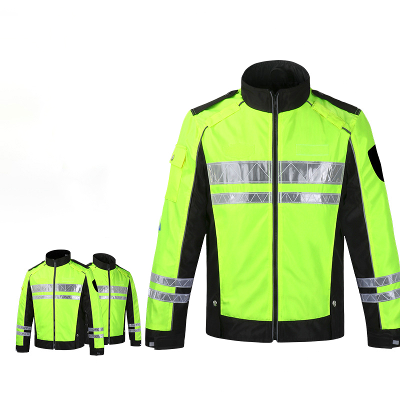 Promotional Well Designed Spring Autumn Patrol Safety Reflective Anti-wind Turbine Suit