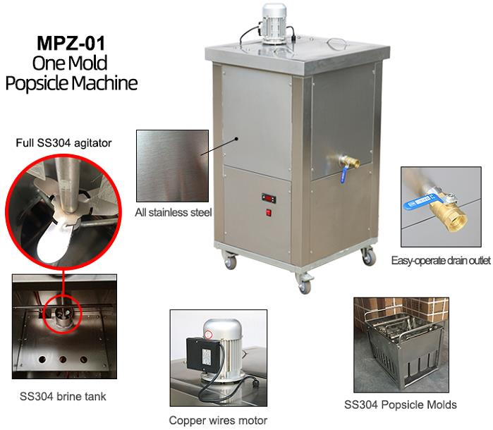 1 moulds Popsicle machine / ice lolly machine / popsicle maker