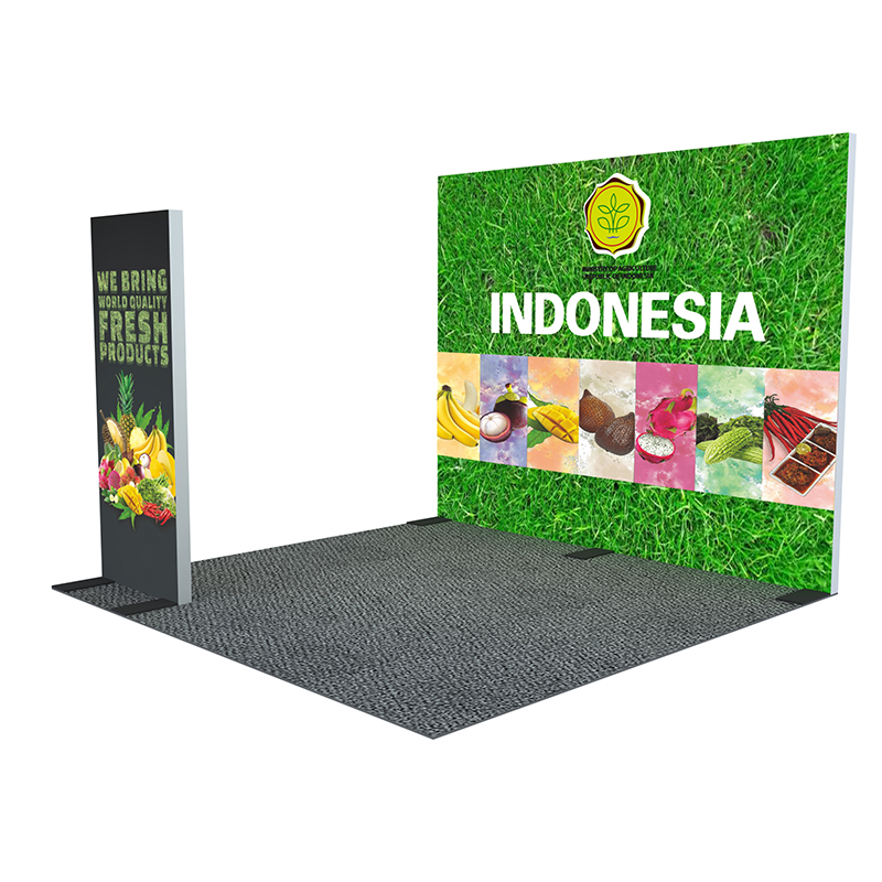 Popular aluminum <strong>stand</strong> tension fabric display 10 x 10 trade show <strong>booth</strong>
