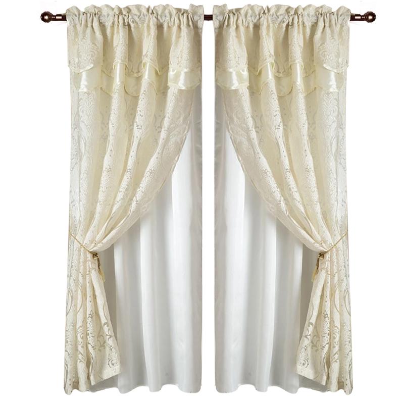 curtain,2 Pieces, Beige