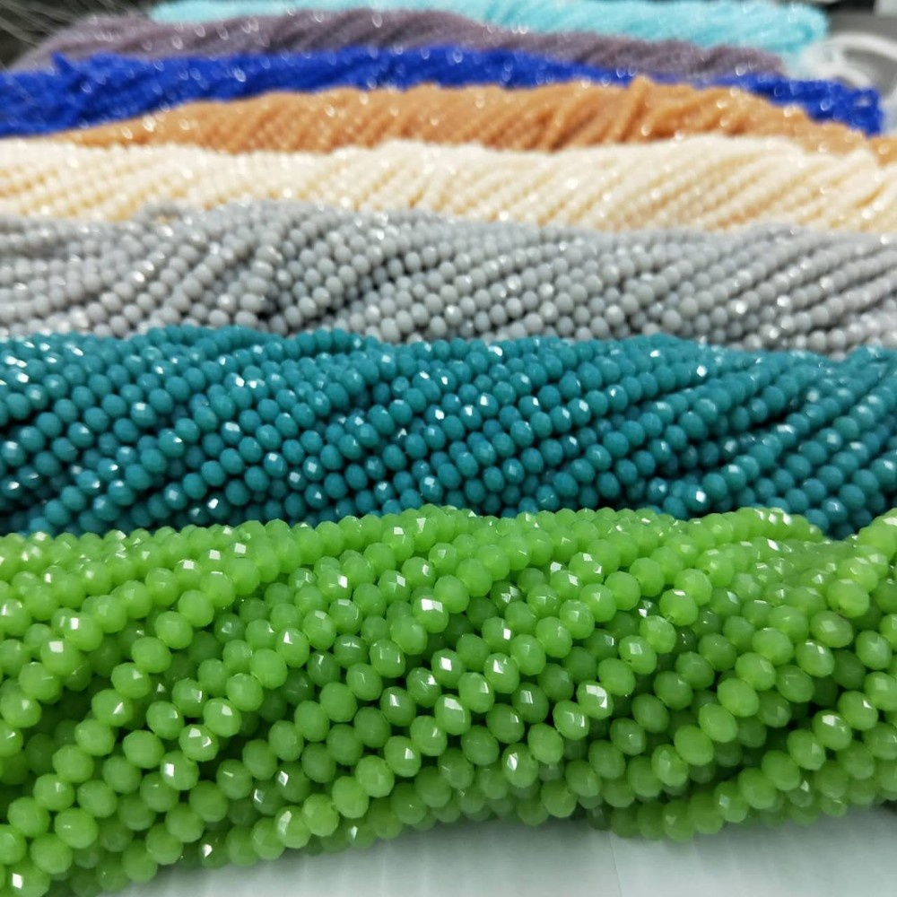 China Cheap Price Crystal AB Faceted Rondelle Beads, Wholesale Tyre Beads Crystal Beads