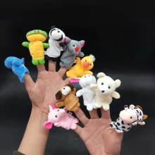 Wholesale Saft Animal Shape Plush Finger Puppet Vending Capsule Toy For Children