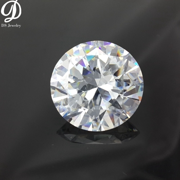 Wholesale price China high quality round cz stone white cubic zirconia