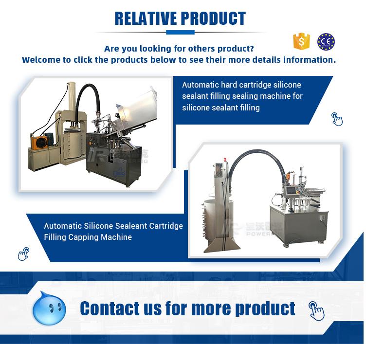 Semi-auto manual silicone sausage color silicone sealant cartridge filling machine for silicone tube filling