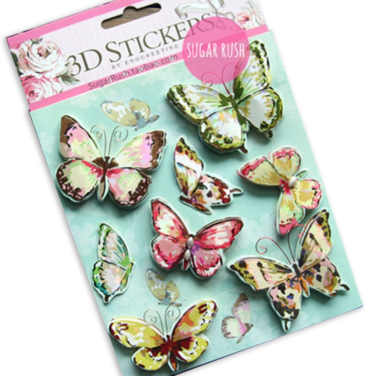 Cute Butterfly Die Cut Cartoon Scrapbook 3D Puffy Sticker