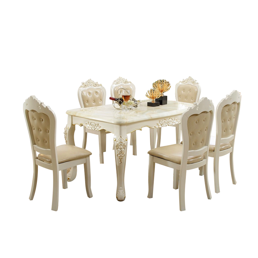 Scandinavian Furniture Marble <strong>Dining</strong> <strong>Table</strong> Set <strong>Square</strong> <strong>Dining</strong> <strong>Table</strong> With 6 Chairs