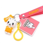 2020 Creative Cartoon dog Key chain Cute Animal Bear Pendant Keychains Woman PVC Silicone Doll Key Ring Bag Car Gifts