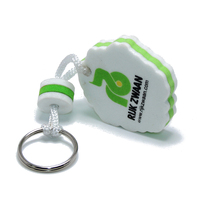 EVA Swimming Gifts Custom Foam Floating Buoyant Keychain For Water Sports Kayak Rafting Key Chain Ring Holder Floating Keychain