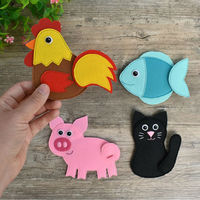 2020 Environmental protection material colorful detachable felt different designs DIY animals for kids