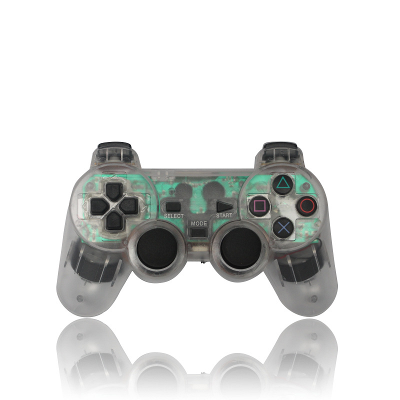 PS2 handle color transparent universal PS2 wireless game <strong>controller</strong> 2.4G wireless <strong>controller</strong>