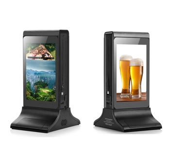 Innovative Restaurant Table Stand Advertising WiFi Small LCD Touch Screen Android Digital Signage Advertising Display AD Player