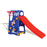 YL-HT003 Plastic Kids Indoor Amusement Equipment Basketball Hoop Kids Indoor Plastic Kid Mini Slide